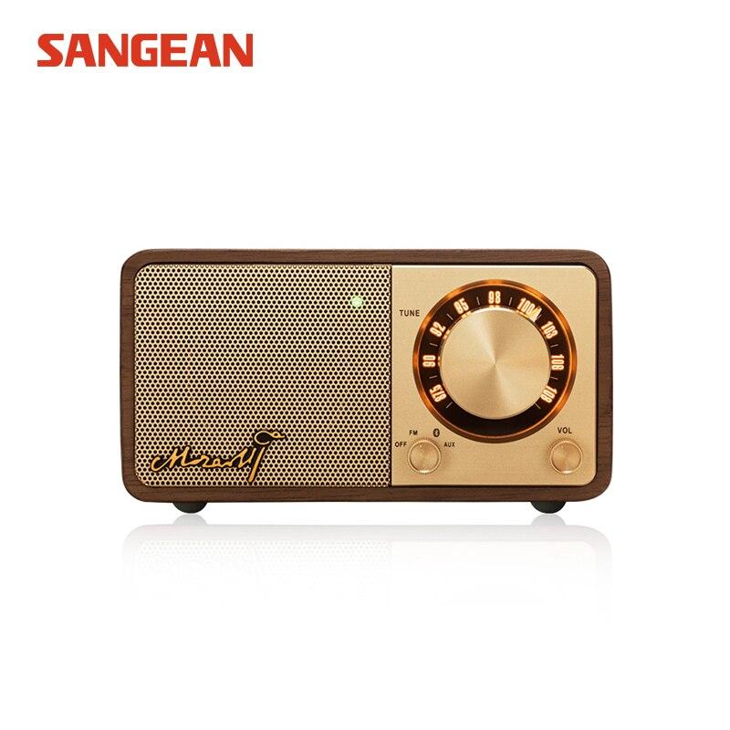 Sangean Mozart Mini Dark walnut Bluetooth speaker Bluetooth speaker Portable Wireless bluetooth speaker portable sangean blutab ultra portable bluetooth stereo speaker