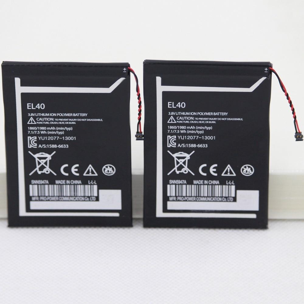 For Motorola Moto E XT1019 XT830C Xt1021 1860mAh EL40 Cellphone internal replacement Lithium Battery With Free Repair Tools