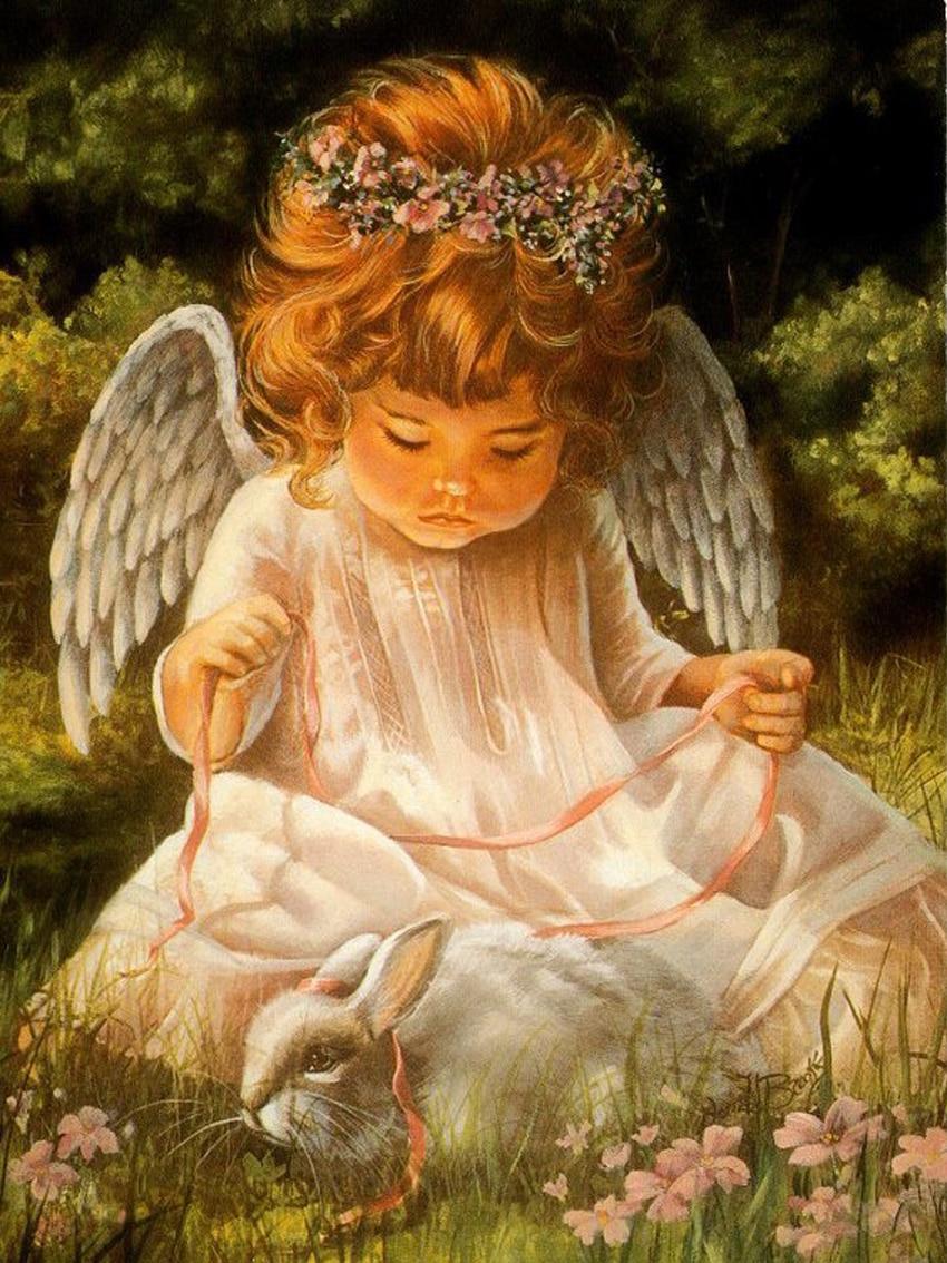 Самые красивые открытки ангелов, фрекен