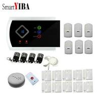 SmartYIBA APP Control Security Alarm System 433mhz PIR Motion Smoke Alarm SOS Alert Wireless Alarm Sensors Kits Home Alarmes