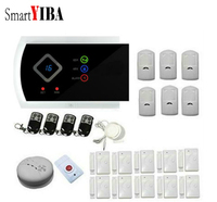 SmartYIBA APP Control Security Alarm System 433mhz PIR Motion Smoke Alarm SOS Alert Wireless Alarm Sensors Kits Home Alarmes