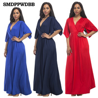 SMDPPWDBB Womens Pregnancy Dress Long V Neck Maternity Dresses Noble Prom Party Gowns Evening Vestidos Maternity Nursing Dress