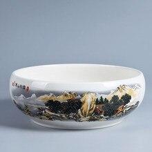Цзиндэчжэнь 8 дюймов кунг-фу чай для мытья частей синий и белый Фарфоровая керамика чайный набор