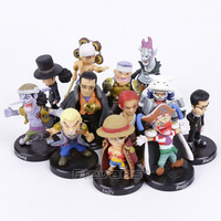 Anime One Piece 12pcs Set Luffy Sabo Shanks Lucci Crocodile Moria Buggy Enel PVC Figures Collectible