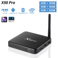 AMOBSAT X98 PRO Smart TV Box Android 7.1 3GB 32GB Amlogic S912 Octa Core 2.4G/5GHz Wifi 4K Media player X98pro Set top box