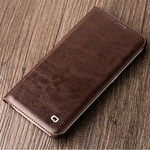 For Samsung Galaxy S6 Edge G9250 Original QIALINO Brand Real Natural Calf Genuine Leather Case Luxury Flip Wallet Card Pocket(China)