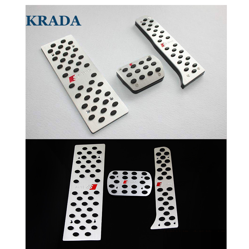 Car styling Car Stickers Car Pedal for Audi a5 a4 b8 b6 b7 b5 a3 q7 q5 a1 a6 c5 c6 tt q3 328i GT X1 ActiveHybrid 3 i8 M2