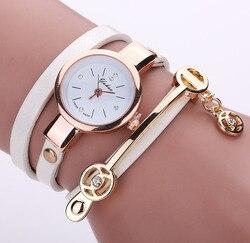 Couro De luxo Relógio de Cristal Das Senhoras Das Mulheres Pulseira Da Moda Relógio de Pulso Relógio de Quartzo relogio feminino leopard trançado feminino 8O77