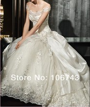 bridal ball gown casamento cap sleeve bride flower vestido de noiva 2014 sexy romantic wedding dress bandage free shipping
