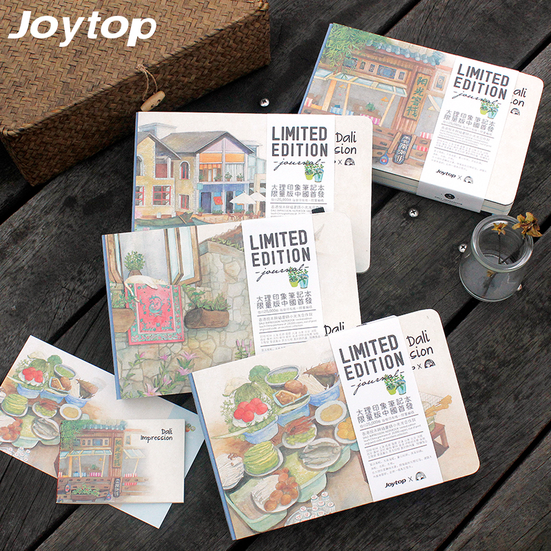 Joytop Sketchbook Impression Series Free Sketchbook a5 Notebook Vintage Hardcover Creative Pastel Drawing Diary Limited Edition