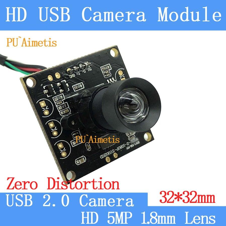 PU'Aimetis 30FPS/60FPS/120FPS Aucune distorsion Lentille caméra De Surveillance HD 200 w 1920*1080 p Android Linux UVC caméra USB module