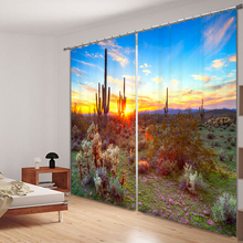 Landscape Scenery 3d Curtains For Living Room