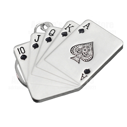 Metall Poker Karten Schlüssel Kette Ring Poker Club Zubehör Männer Poker ACE Schlüssel Ketten Llavero Poker Chips Auto Keychain