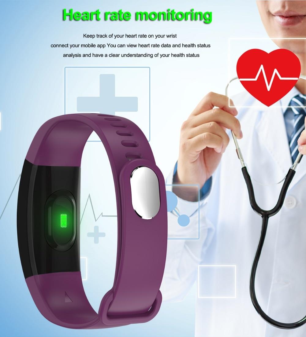 Smart Wristband 2018 Bracelet F64 Smartband gps waterproof sleep monitor Fitness Bracelet Smart Watch Call Alarm For iOS Android (4)