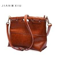JIANXIU 2017 New Fashion Oil Split Leather Women S Bag Vintage Ladies Handbag Original Female Shoulder