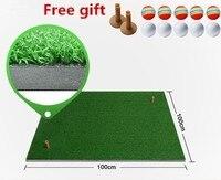 100*100cm Backyard Golf Mat Indoor Golf Practice Training Hitting Pad Artificial grass Mini blanket Golf putting trainer greens