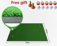 100*100cm Backyard Golf Mat Indoor Golf Practice Training Hitting Pad Artificial grass Mini blanket Golf putting trainer greens