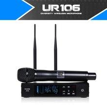 UR106 Verdadeira Diversidade de Antenas UHF SISTEMA de MICROFONE SEM FIO Duplo Estágio Superior Qualidade PROFISSIONAL