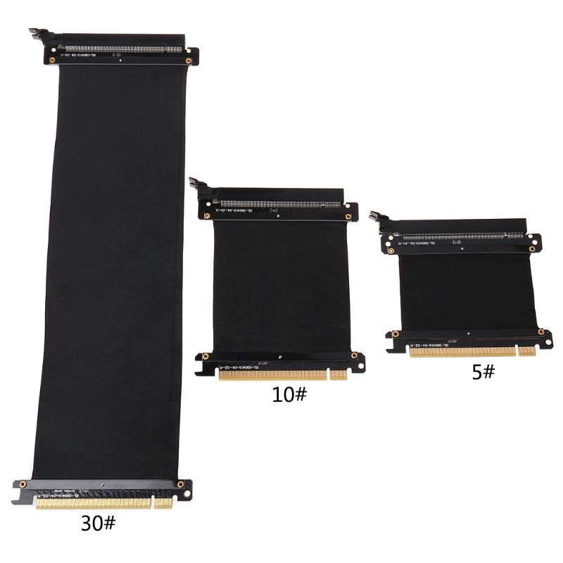 PCI Express 16x Flexible Cable Riser Card Extension Port Adapter Graphics Video Card Extend Cord For 1U 2U Chassis