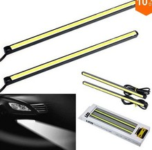 купить 1pair/lot Ultra-thin12w COB Chip New update 14cm LED Daytime Running Light LED DRL Fog car day running lights онлайн