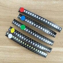 5x100 шт/цвет = 500 шт 1206 0805 0603 красный/зеленый/синий/белый/желтый SMD светодиодный комплект