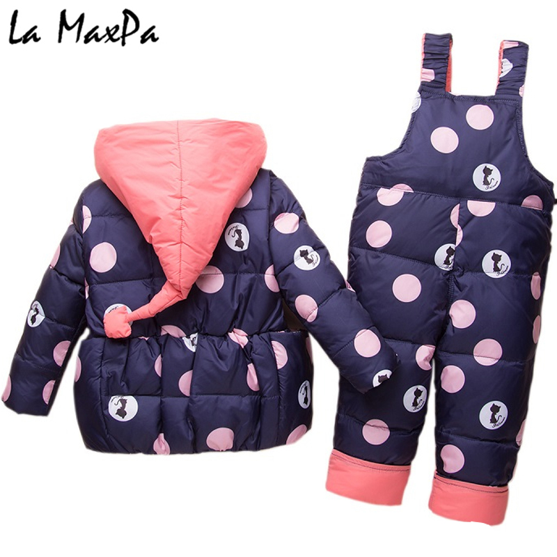 Kids Clothes Girls Boys Down Coat Children Warm Snowsuit Outerwear + Romper Clothing Set Russian children's Winter jackets все цены