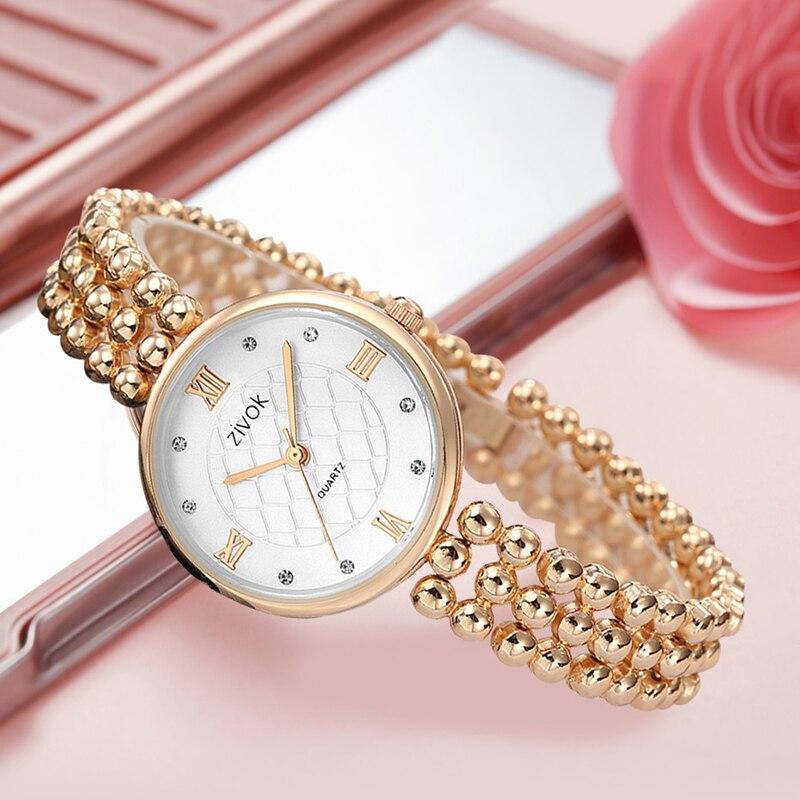 zivok Fashion Women Bracelet Watch Relogio Feminino Brand Luxury Quartz Women Wrist Watches Clock for Girl Lovers Watch