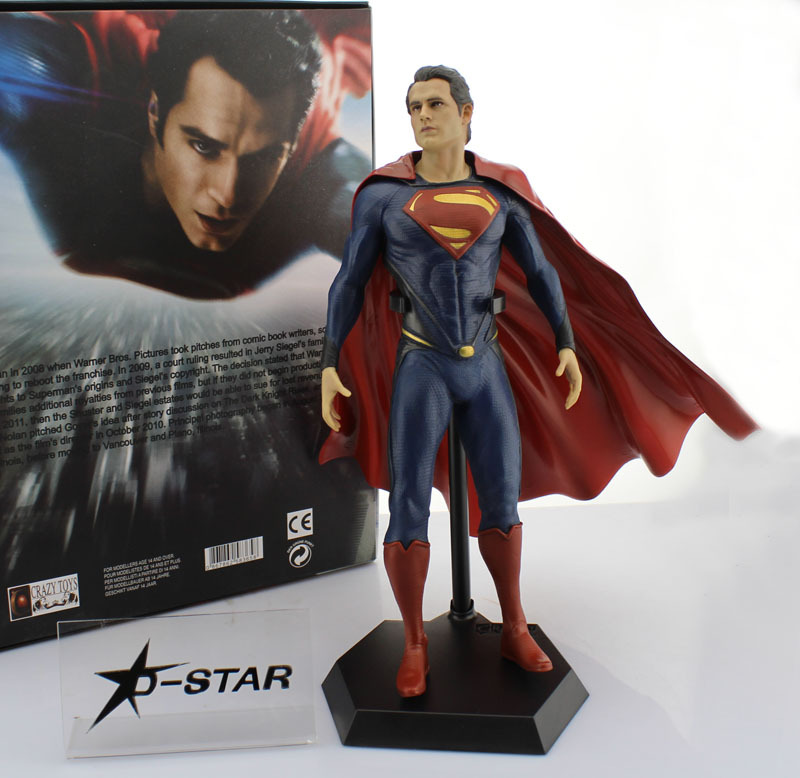 EMS Shipping 6pcs 12 Justice League of America JLA Super Man Superman Movie Man of Steel 32cm PVC Action Figure Collection Toy free shipping cool big 12 justice league of america jla super man superman movie man of steel pvc action figure collection toy