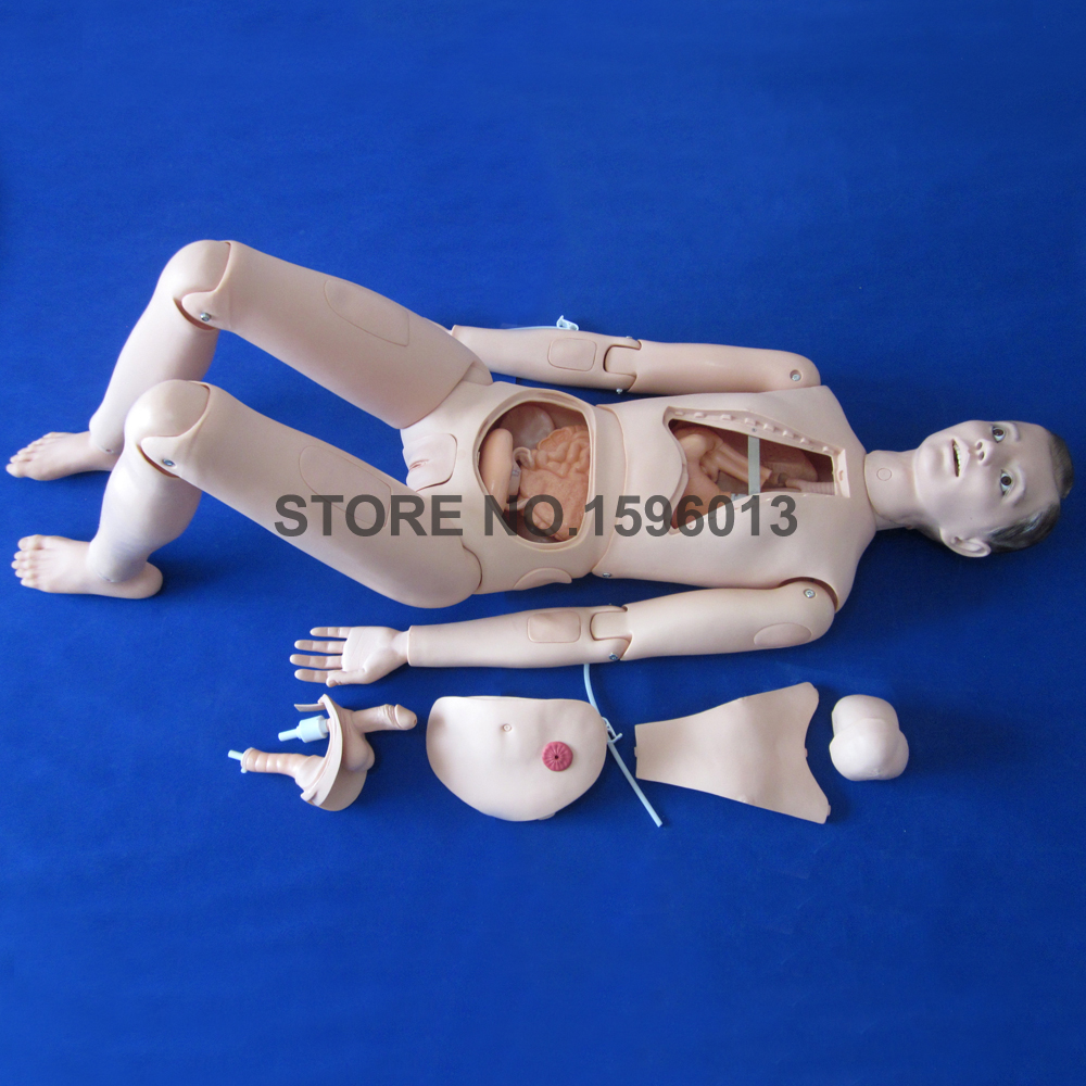Flexible Patient Care Training Model, Male Nursing Training Manikin, Full Body Nursing Dummy ...