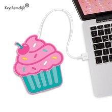Keythemelife Magdalena Kawaii forma de USB Powered Taza Caliente Coaster Aislamiento Café Mats Placemat Portavasos D1