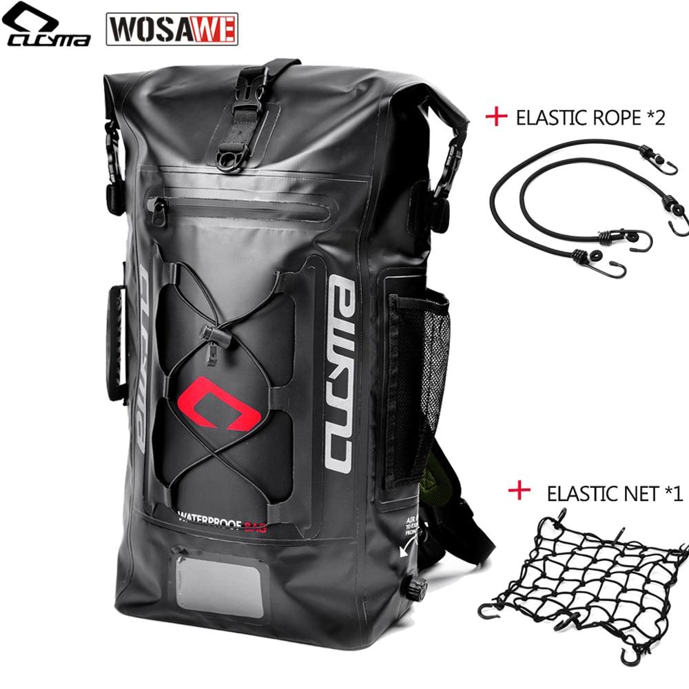 CUCYMA 36-55L PVC 100% sac de moto moto étanche sac de casque moto vélo sac à dos de course croisée sac de voyage bagage de réservoir de moto
