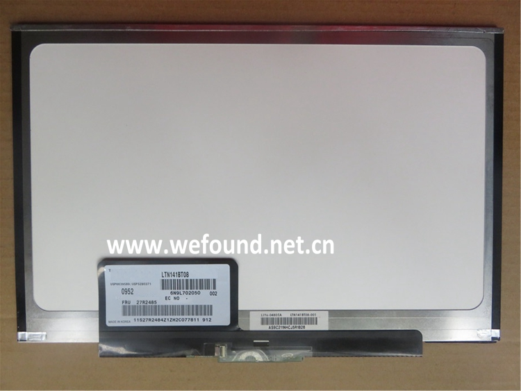 100% Original Laptop Screen 14.1 LTN141BT08 LT141DEQ8B00 1440*900 Fully Test ltn141bt08 fit lt141deq8b00 lcd screen1440 900 slim led panel