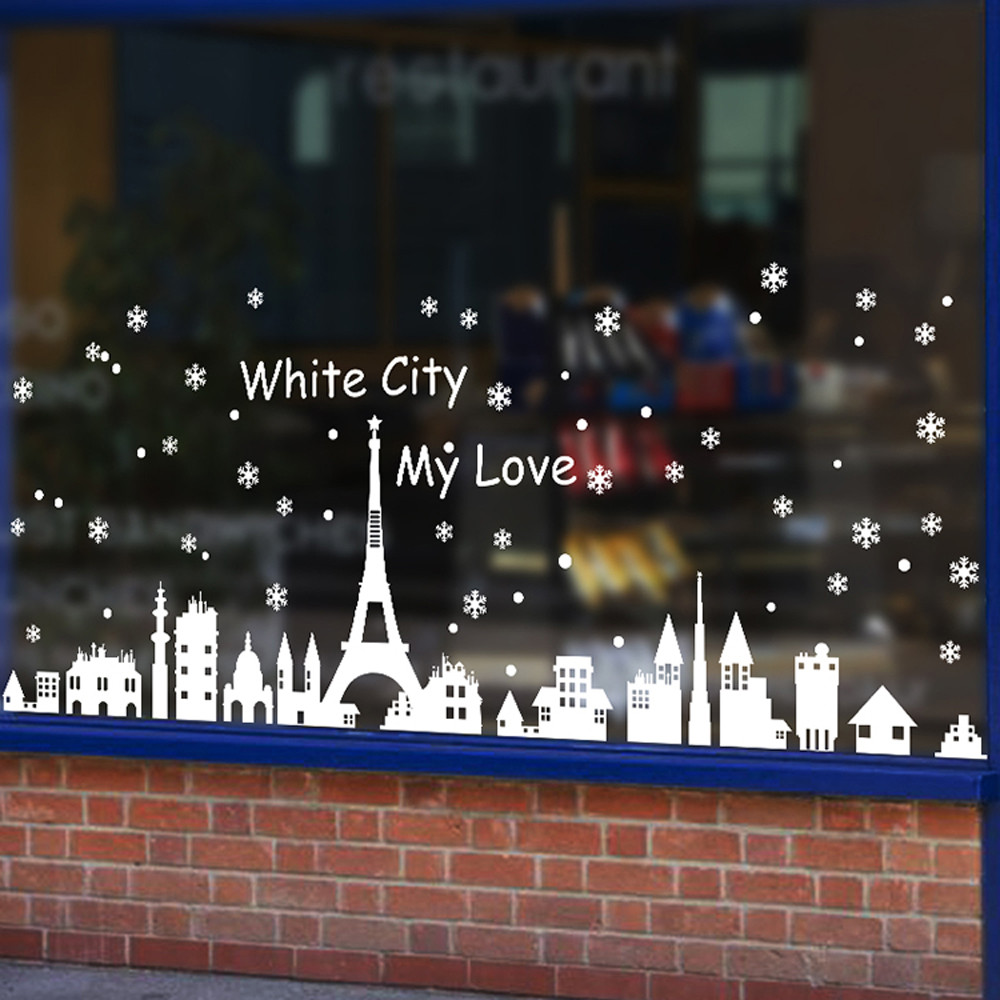 Christmas Angel Christmas Decoration Living Room Bedroom Windows Wall Stickers Display Window Glass Sticker For Living