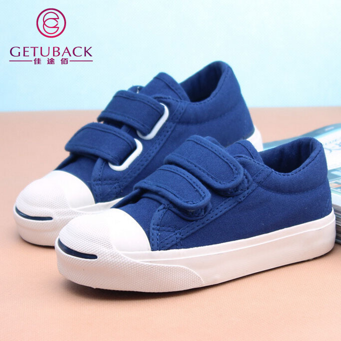 2015 New Kids Classic Canvas Shoes 3-10 Ages Spring & Autumn Student Casual Plimsolls Boys & Girls Hook and Loop Shoes, YJ004