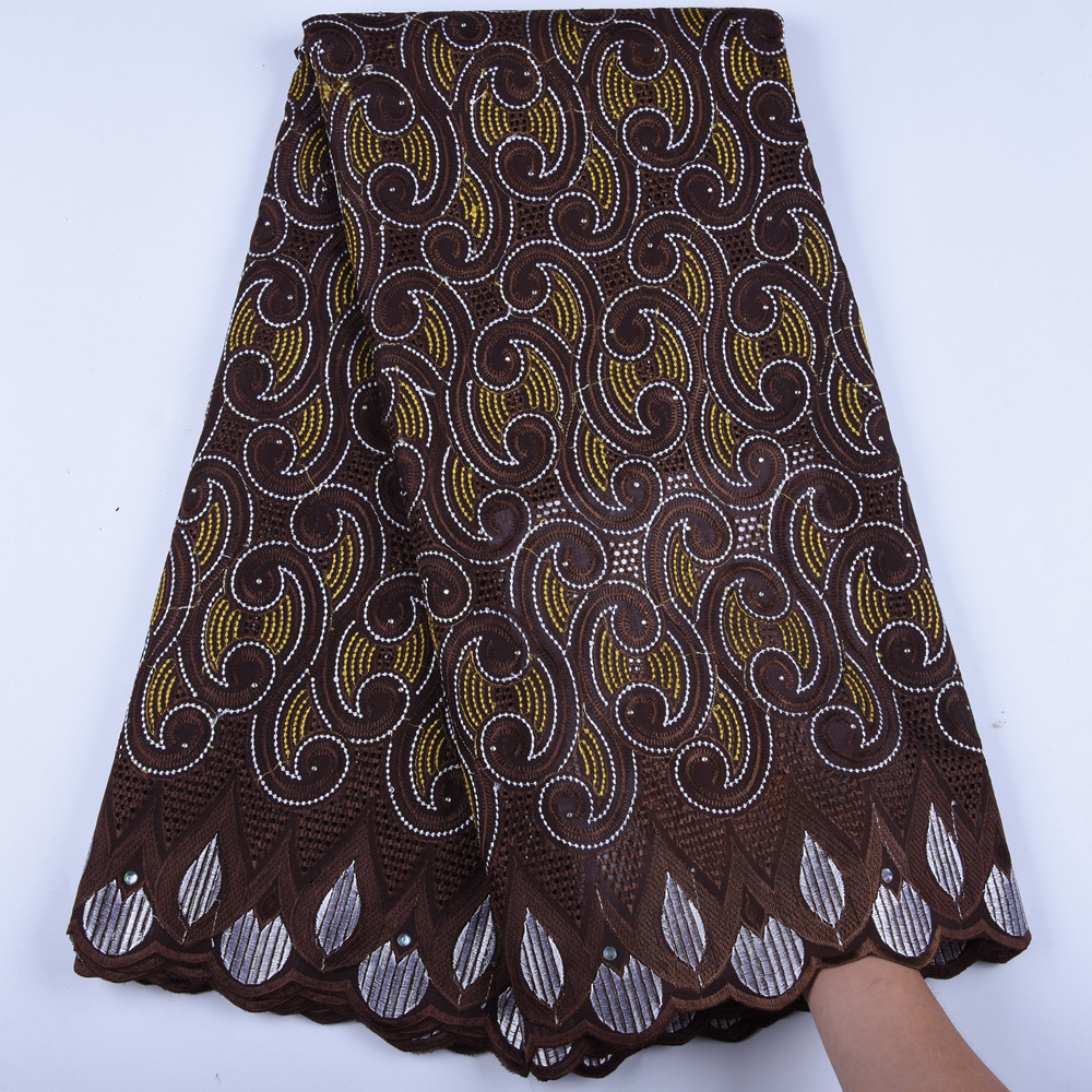Swiss Voile In Swizterland High Quality Cotton African Lace Fabric Embroidery African Nigerian Lace Fabric For Men Dress <font><b>1602B</b></font> image