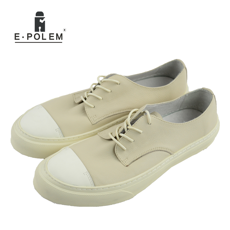 Japaness Style Fashion Genuine Leather Men Shoes 2017 Summer Lace-up Flats Shoes Low Help Black Breathable Casual Boat Shoes new men casual shoes soft leather men high top shoes fashion lace up breathable hip hop justin kanye west shoes red black white