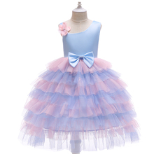 Vestidos Girls Summer Dress 2019 Brand layered Teenage Party Unicorn Princess Dress Children Costume for Kids Clothes 2-6T