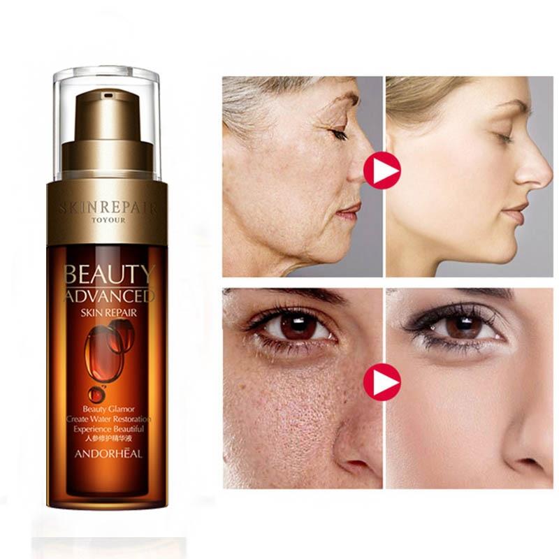 Anti Wrinkle Face Serum Hyaluronic Acid Ginseng Essence Vitaminis Collagen Pore Minimizer Moisturizing Firm Aging Skin Care MQ