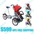 Taga bicicleta carrinho de criança triciclo Do Bebê mãe bicicleta viagem poussette 3 em 1 triciclo