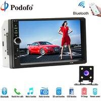 Podofo Car Multimedia Player Universal Car DVD Player 7 Touch Car Radio BT MP5 Car Autoradio