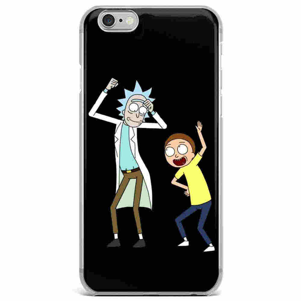 Raro de dibujos animados Comic Meme Rick y Morty funda de teléfono para iPhone 6 iPhone 6 6 S 7 7 Plus 8 5 funda protectora de silicona suave 5S SE