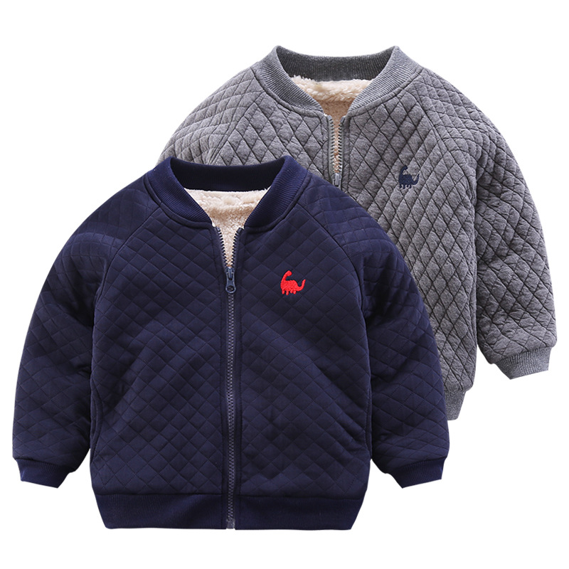 Baby Boys Jackets Autumn Winter Baseball Jackets for Boys Jacket Kids Warm Zipper Outerwear Coats Clothes Children Velvet Jacket