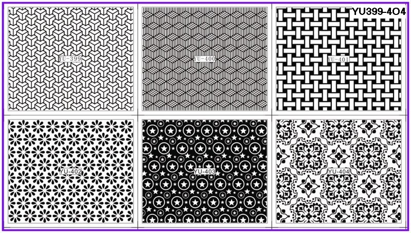 Beauty & Health Nails Art & Tools 6 Pack/ Lot Water Decal Nail Art Nail Transfer Sticker Black Mosaic Fence Flower Star Yu399-404 Promoting Health And Curing Diseases