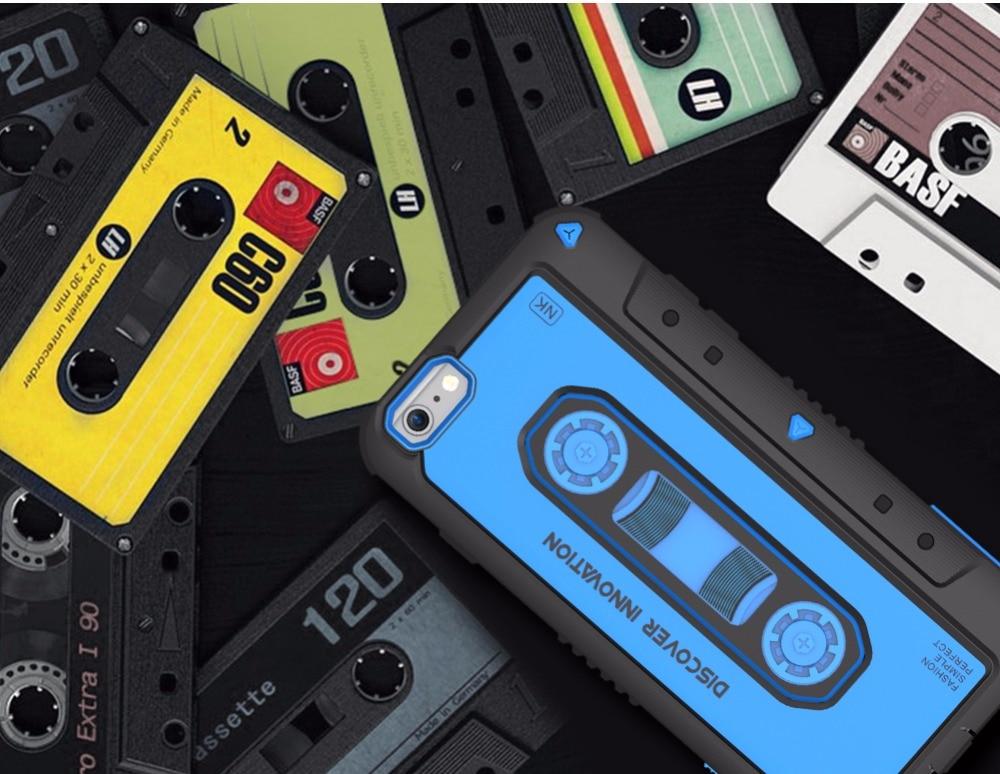 עבור iphone 6 בתוספת מקרה טלפון Nillkin מוסיקה Neo היברידי קשוח שריון מארזי Slim חזור עטיפות מחשב וtpu חומר עבור iphone 6 s בתוספת