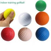 PU EVA мяч для гольфа мягкий внутренний тренировочный цветной губчатый шар качели для упражнений мяч для тренировок внутри помещения мяч для гольфа безопасный эластичный