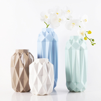 White Brown Green Blue Modern Ceramic Tabletop Flower Wedding Decorative Vase Christmas Home Decoration Accessory