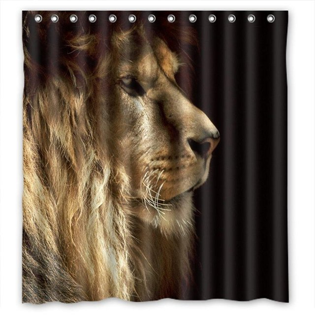 MOMO King Of Jungle Lion Shower Curtain Measures 66w X 72