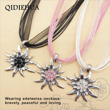 Hot Selling German Edelweiss Pendants Necklaces for Women Fashion Korean Rope Oktoberfest Statement Necklace Jewelry Wholesale