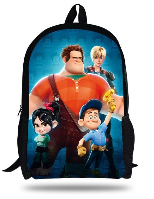 16-inch Kids Ralph Bag Children Backpack Wreck-It Ralph Cartoon Kids School  Bag For Teenage Boys Girls. bedb0b27083f7