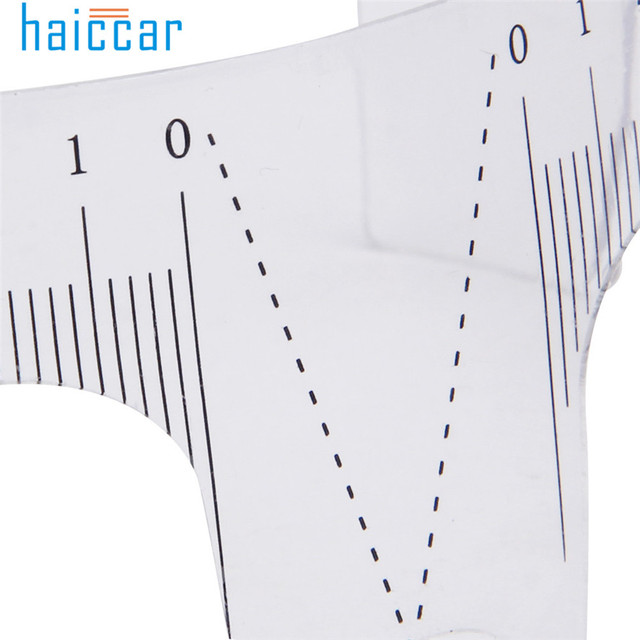 HAICAR 1PC Eyebrow Guide Ruler Practical Permanent Tool Microblading Reusable Makeup Brow Measure Tattoo Stencils Pretty 1